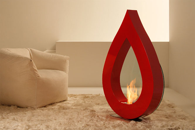 BIG-FLAME-Red-teardrop-fireplace